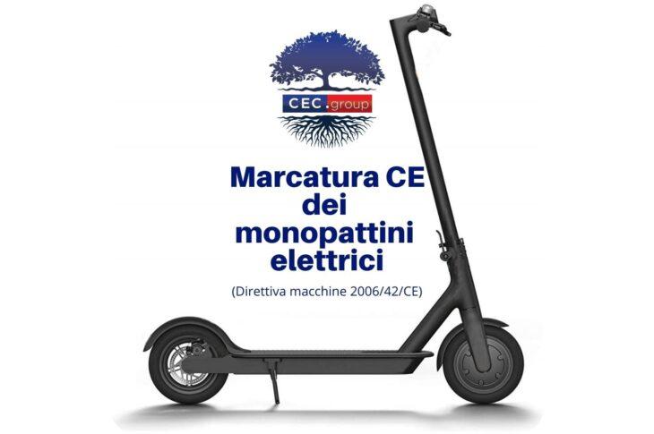 Marcatura CE dei monopattini elettrici